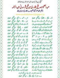 Allama Abdul aleem Siddiqi